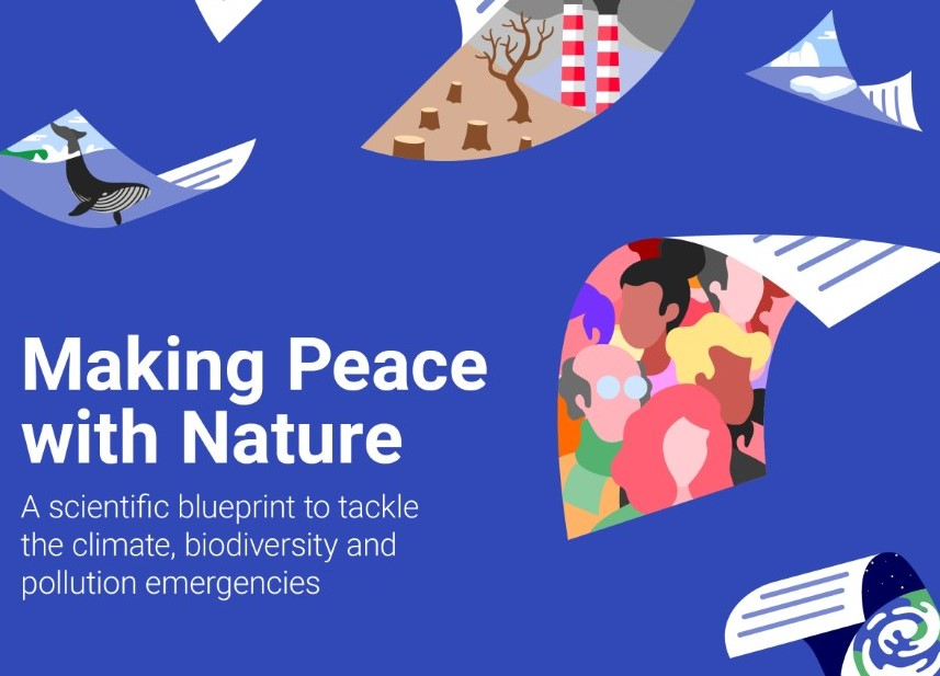 The first UNEP synthesis report is titled: Making Peace with Nature