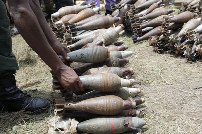 Collection of arms, part of the disarmament program of the rebel factions in Burundi.