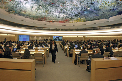 The United Nations Human Right Council in session.