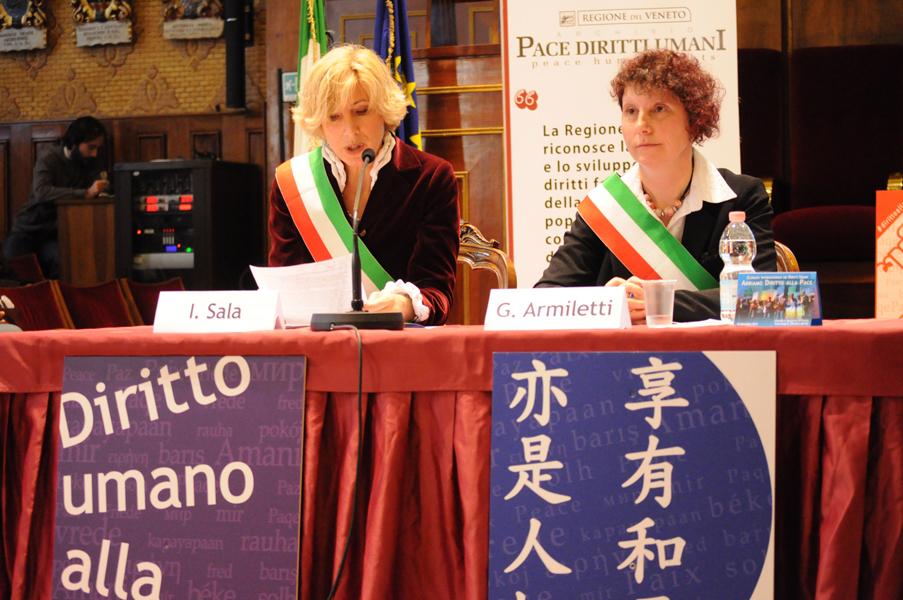 Intervento di Isabella Sala, Assessore alla Comunità e alle famiglie, Comune di Vicenza, 10 dicembre 2014.
