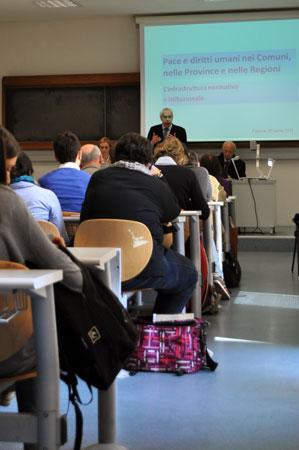 Intervento introduttivo del Prof. Marco Mascia, Direttore del Centro diritti umani dell'Università di Padova.