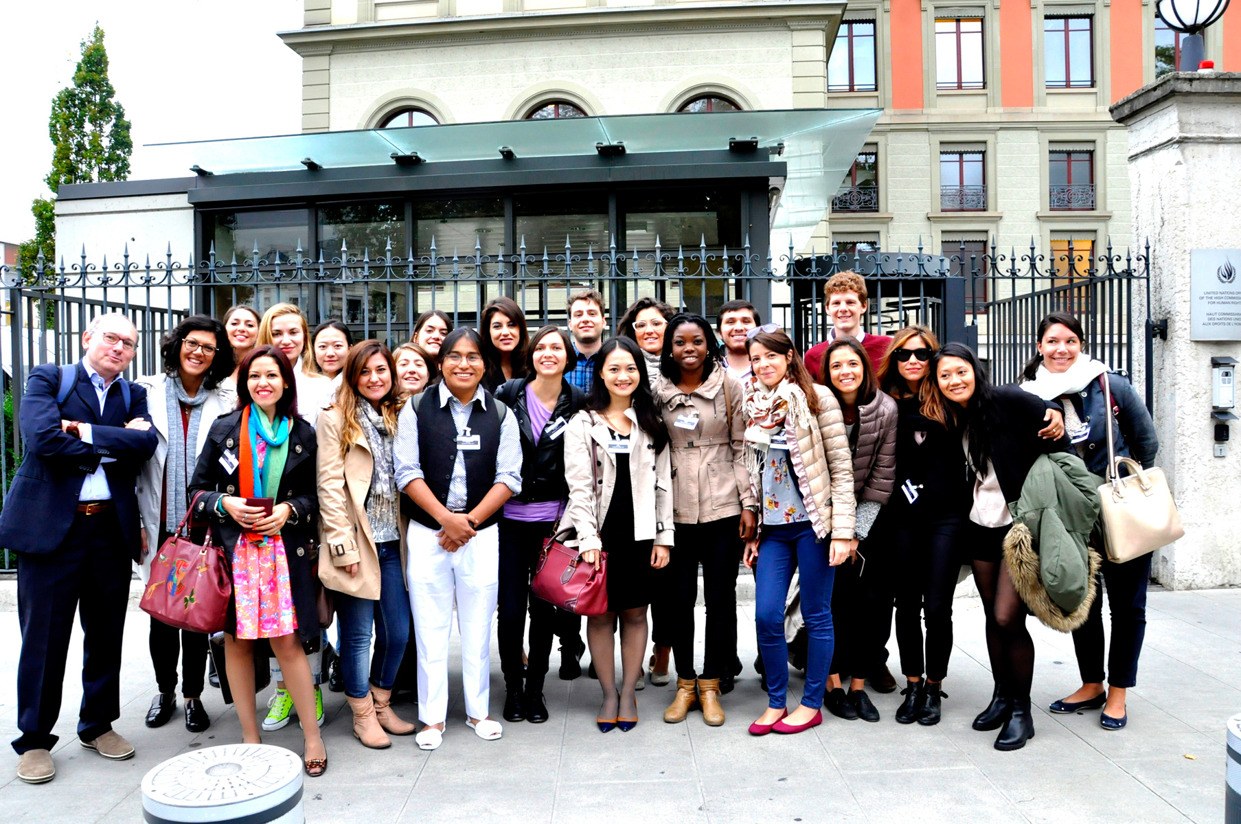 Hrg Students at the Office of the United Nations High Commissioner for Human Rights (OHCHR) Palais Wilson, Geneva