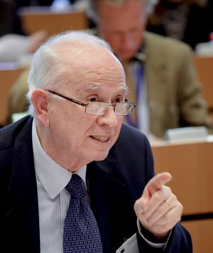 Antonio Papisca during the hearing on the Accession of the European Union to the European Convention on Human Rights, Strasbourg, 18th March 2010.