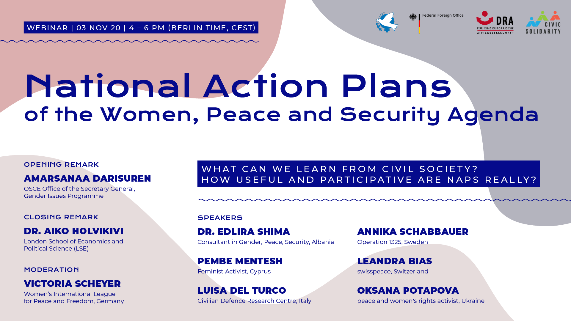 National Action Plans of the WPS agenda - webinar