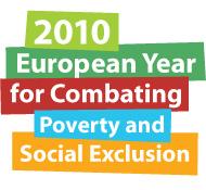 Logo 2010 - Anno europeo della lotta alla povertà e all'esclusione sociale.