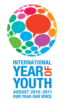 Logo  2010-2011 Anno internazionale della gioventù