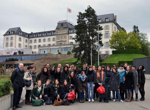 Gruppo di studenti dell'Università di Padova che hanno partecipato al viaggio studio a Ginevra, 19-23 maggio 2013