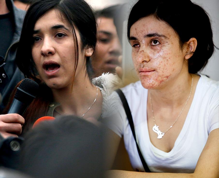 Nadia Murad (a sinistra) e Lamiya Aji Basharr