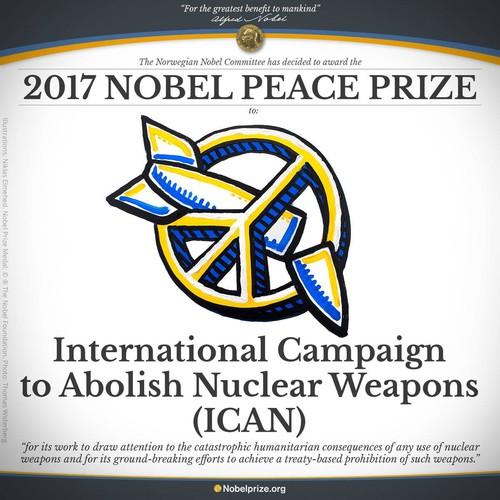 ICAN, Premio Nobel per la pace 2017
