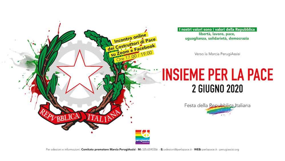 2 giugno 2020, Festa della Repubblica Italiana, Insieme per la Pace