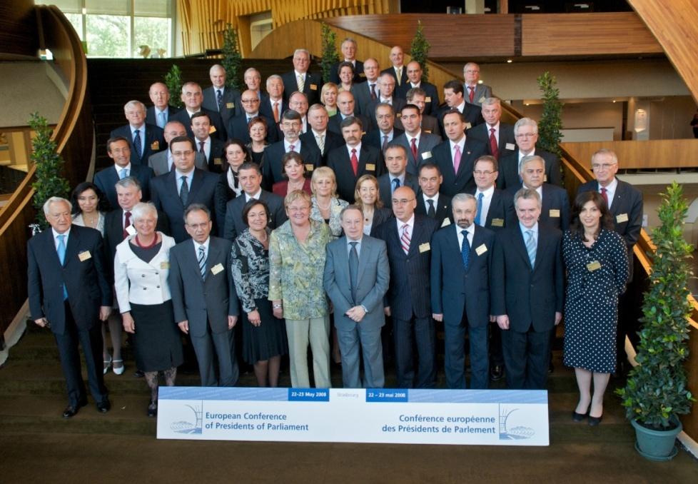 Foto di gruppo dei rappresentanti degli stati d'Europa presso il Consiglio d'Europa (2008)