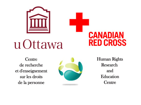 Logo of the University of Ottawa, Human Rights Research and Education Centre, Canadian Red Cross