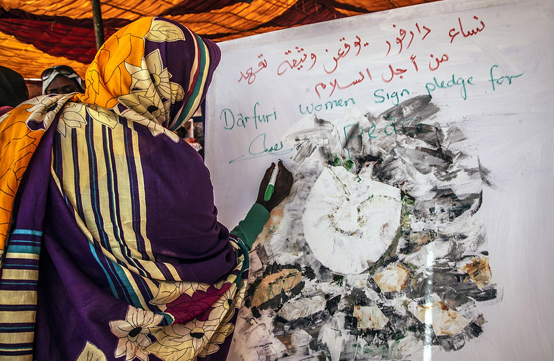 Women calling for peace, Darfur, Sudan, 2018