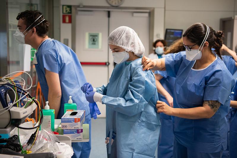 Assistenza a casi di covid-19, Hospital Clinic di Barcellona