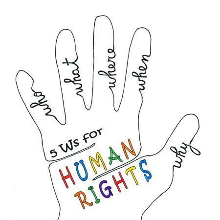 Logo della tramissione radio 5Ws for Human Rights, l'appuntamento settimanale per conoscere e approfondire i diritti umani