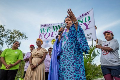 La vice Segretario Generale dell'ONU Amina Mohammed all'International Women's Day 2020 Walk for Life in Papua Nuova Guinea