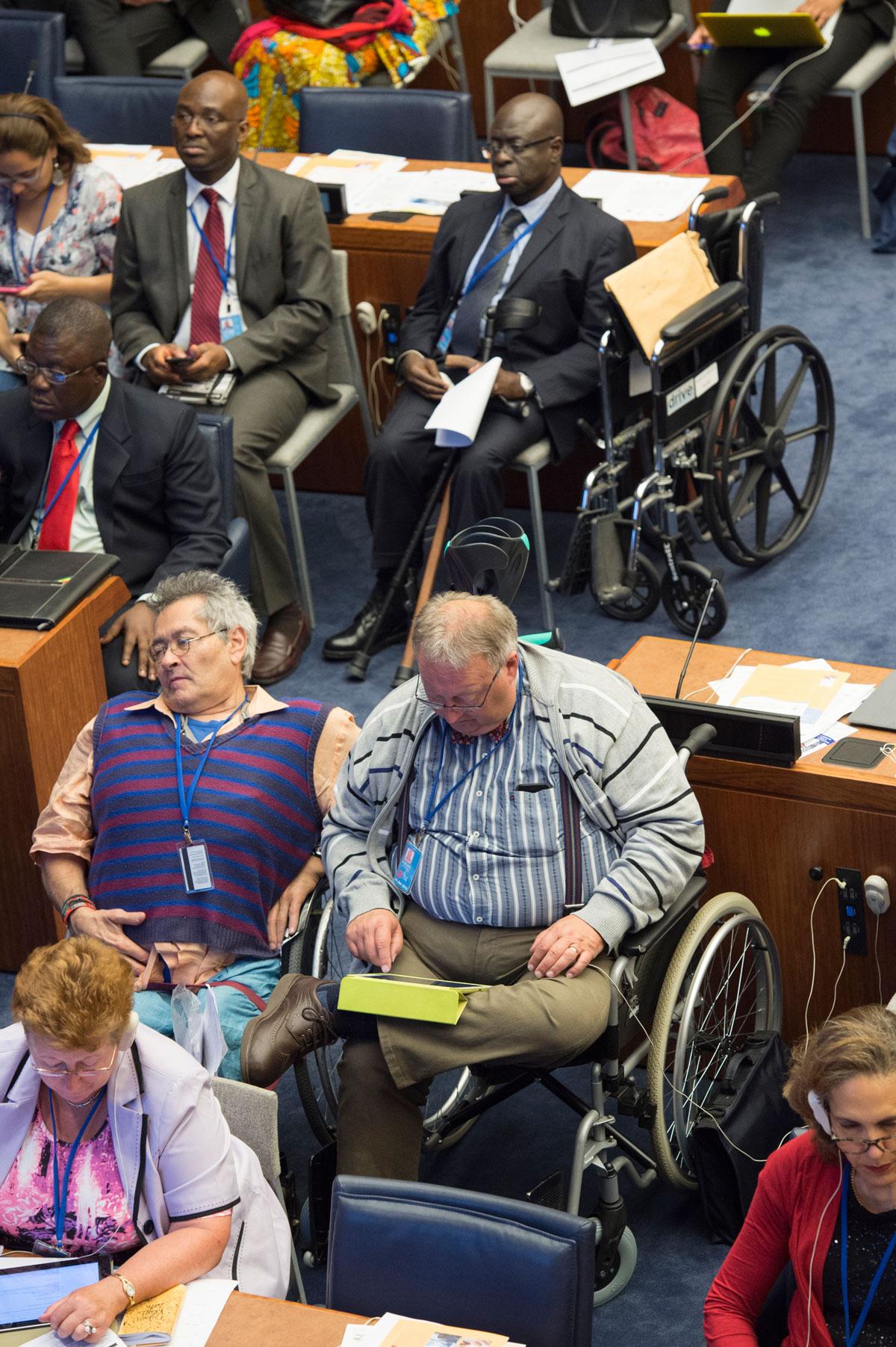 Partecipanti all'ottava sessione della Conferenza degli Stati membri della Convenzione sui diritti delle persone con disabilità, all'apertura della sessione.