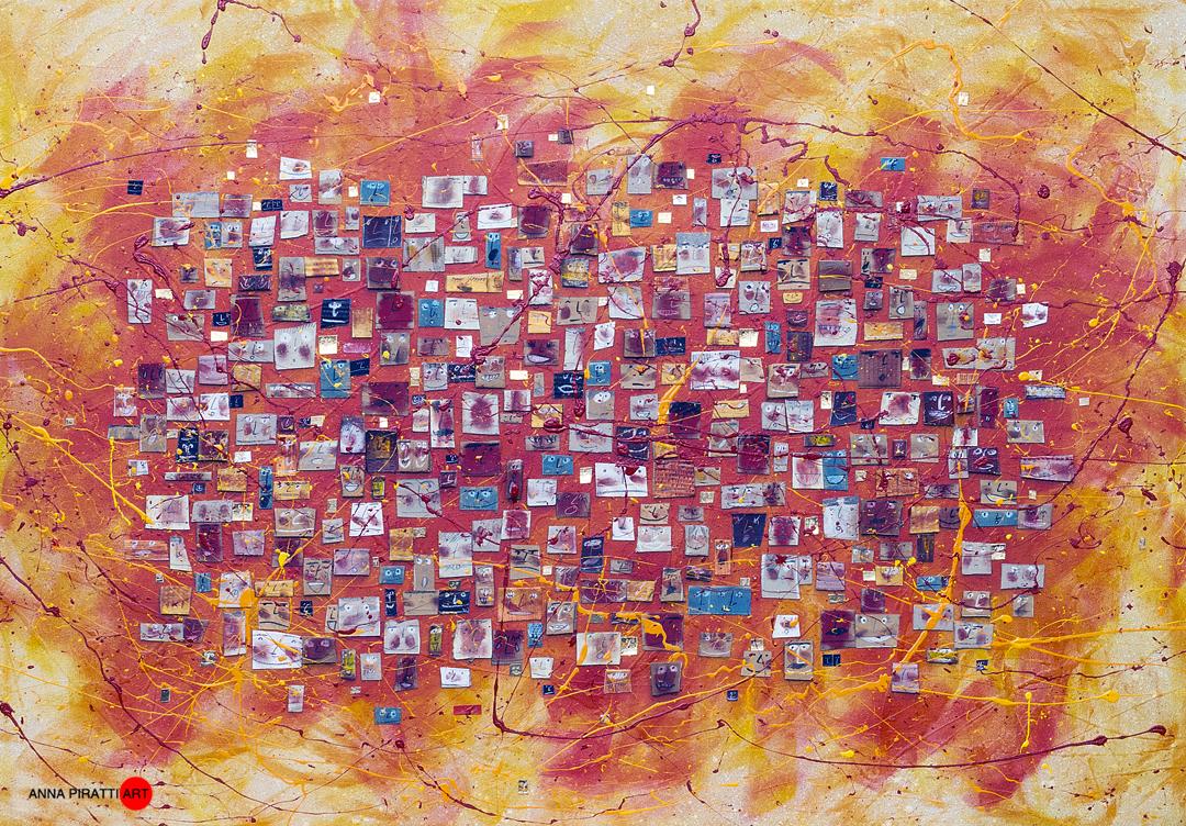 Anna Piratti, Primavera Italiana, painting acrylic on canvas, cm 170x150, 2017, https://www.annapiratti.com
