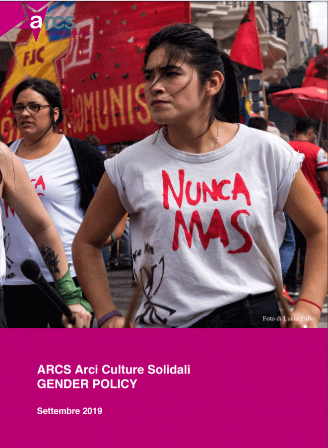 Copertina del documento di Gender Policy di ARCS Culture Solidali