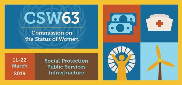 Logo della 63^ sessione della Commissione delle Nazioni Unite sulla condizione della donna