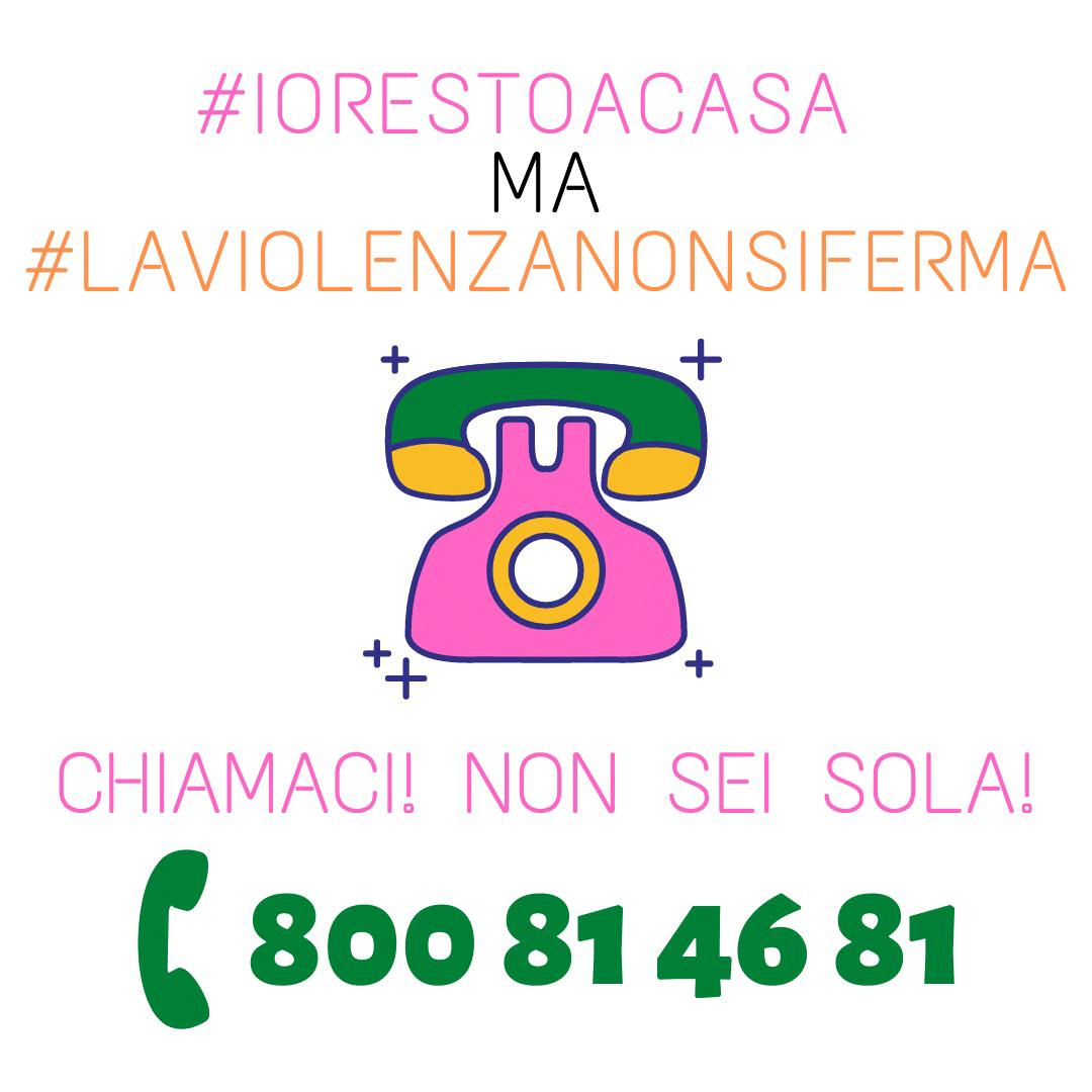 campagna #iorestoacasa ma #laviolenzanonsiferma