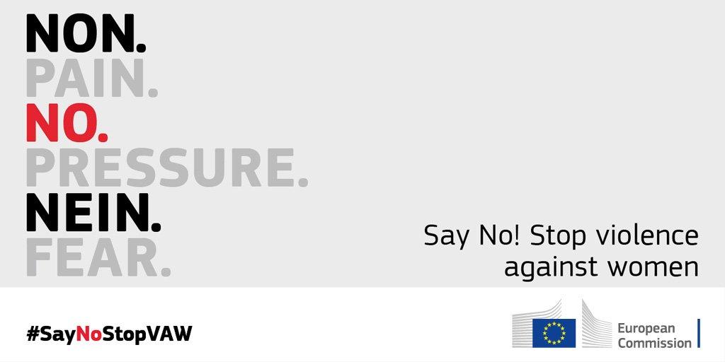 Campagna Commissione Europea - saynostopvaw la lotta contro la violenza sulle donne 2017