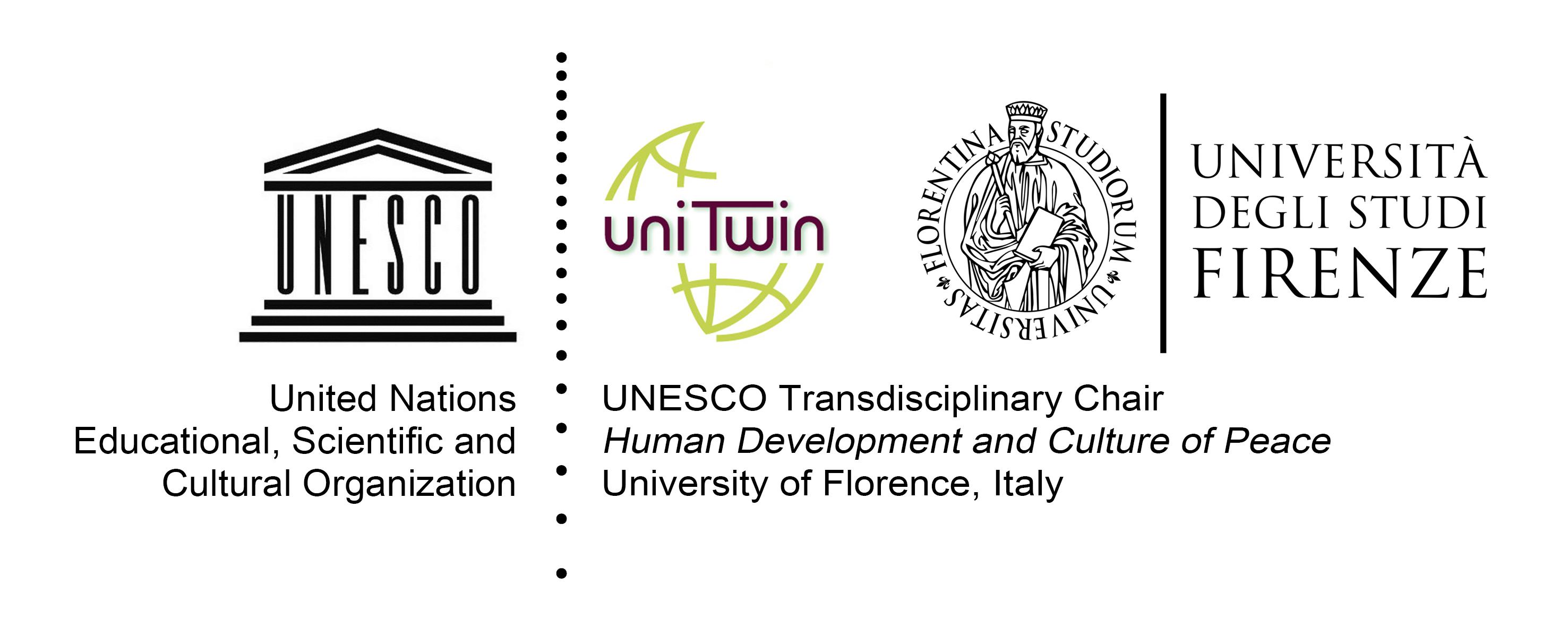 Cattedra Transdisciplinare UNESCO Sviluppo umano e cultura di pace, Università di Firenze, logo