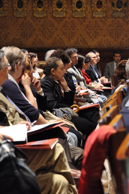 View of participants at the meeting with Public tutor for minors of Region of Veneto, Aula Magna off the Bo palace, University of Padua, 21 june 2010
