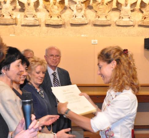 Cerimonia conclusiva del primo Corso di Alta Formazione, Padova, 7 giugno 2010. Consegna dei diplomi.