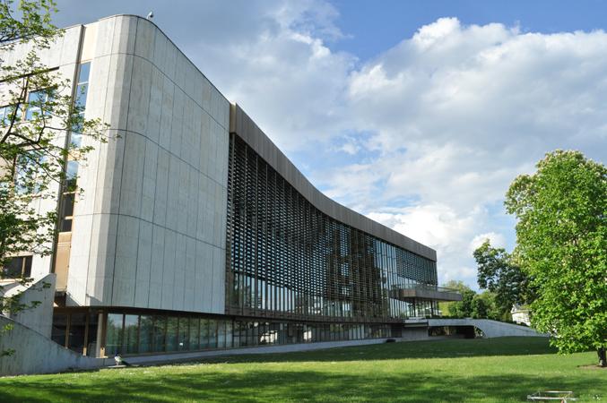 Vista del lato ovest del Palazzo delle Nazioni, Ginevra, Svizzera, 2010