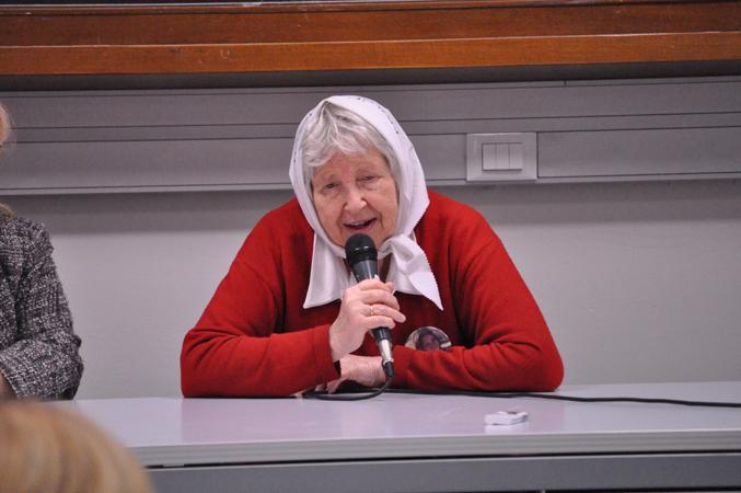 Vera Vigevani Jarach, madre de Plaza de Mayo, intervento presso la facoltà di Scienze Politiche, Università di Padova, 19 novembre 2010.