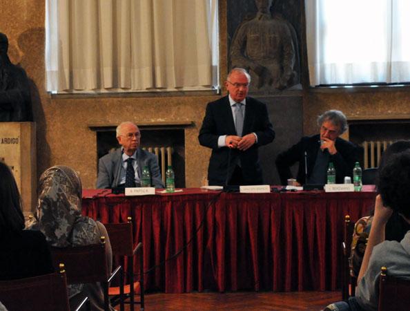 Antonio Papisca, Luc Van den Brande, Léonce Bekemans - Jean Monnet Public Lecture by Luc Van den Brande, University of Padua, 16 April 2013