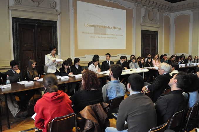 "Simulation of Constitutional Affairs Committee of the European Parliament, prepared by the students of ""International Relations and Human Rights"" - Course of Political System of the European Union, prof. Marco Mascia, University of Padua, June 2013."