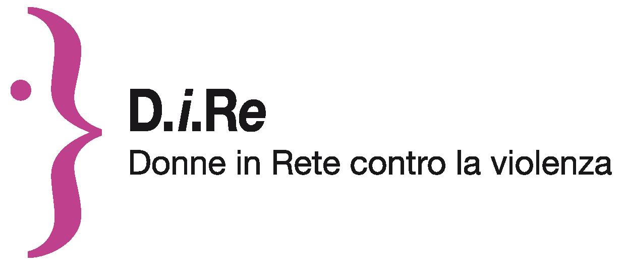 """Logo dell'associazione nazionale D.i.Re, Donne in Rete contro la violenza, nata nel 2008 dopo il lungo lavoro della """"Rete dei Centri antiviolenza e delle Case delle donne"""", che operava nel settore dal 1991."""