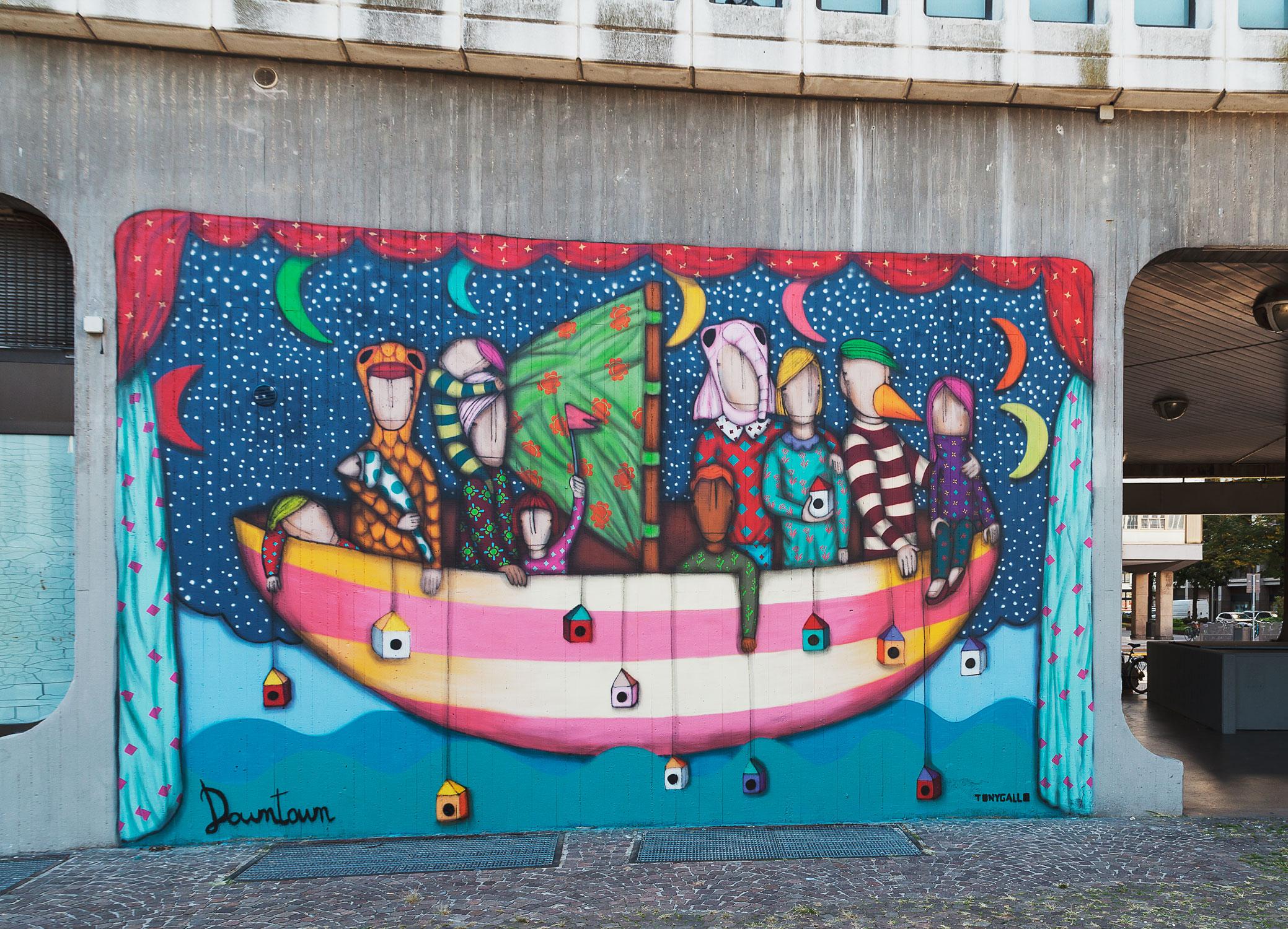 Tony Gallo, Downtown, Piazza Gasparotto, Padova, 2016