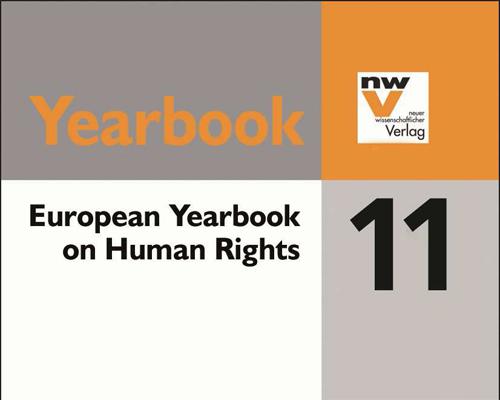 Dettaglio della Copertina dello European Yearbook of Human Rights 2011