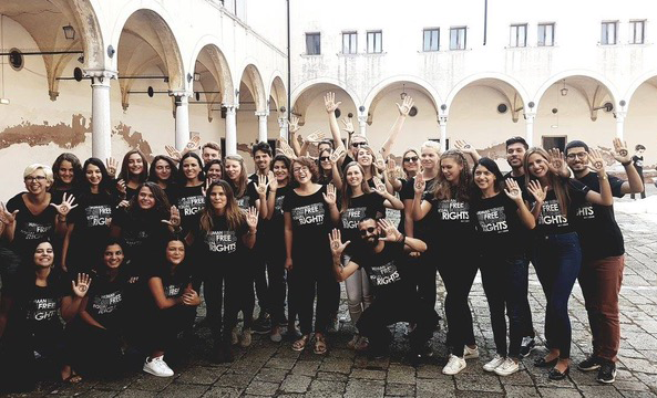 E-MA Students 2016/2017 at the San Nicolo Monasetry, Lido of Venice