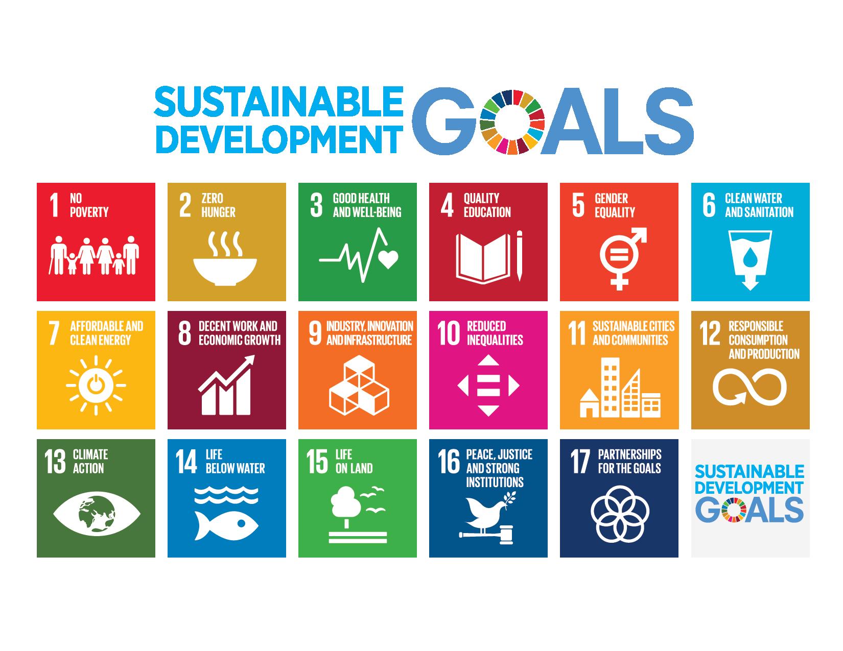 Icone dei 17 Obiettivi di Sviluppo Sostenibile (SDGs), Agenda 2030