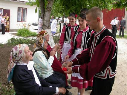 Representatives of minority of Gagauz people in Ukraine.