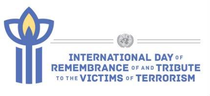 Logo della Giornata internazionale delle Nazioni Unite del ricordo e del tributo alle vittime di terrorismo, 21 agosto