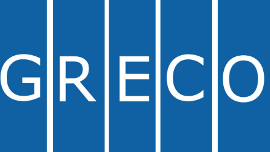 GRECO's logo, The Group of States against Corruption of the Council of Europe