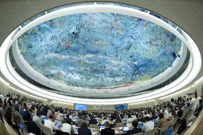 Panoramica di una sessione del Consiglio diritti umani