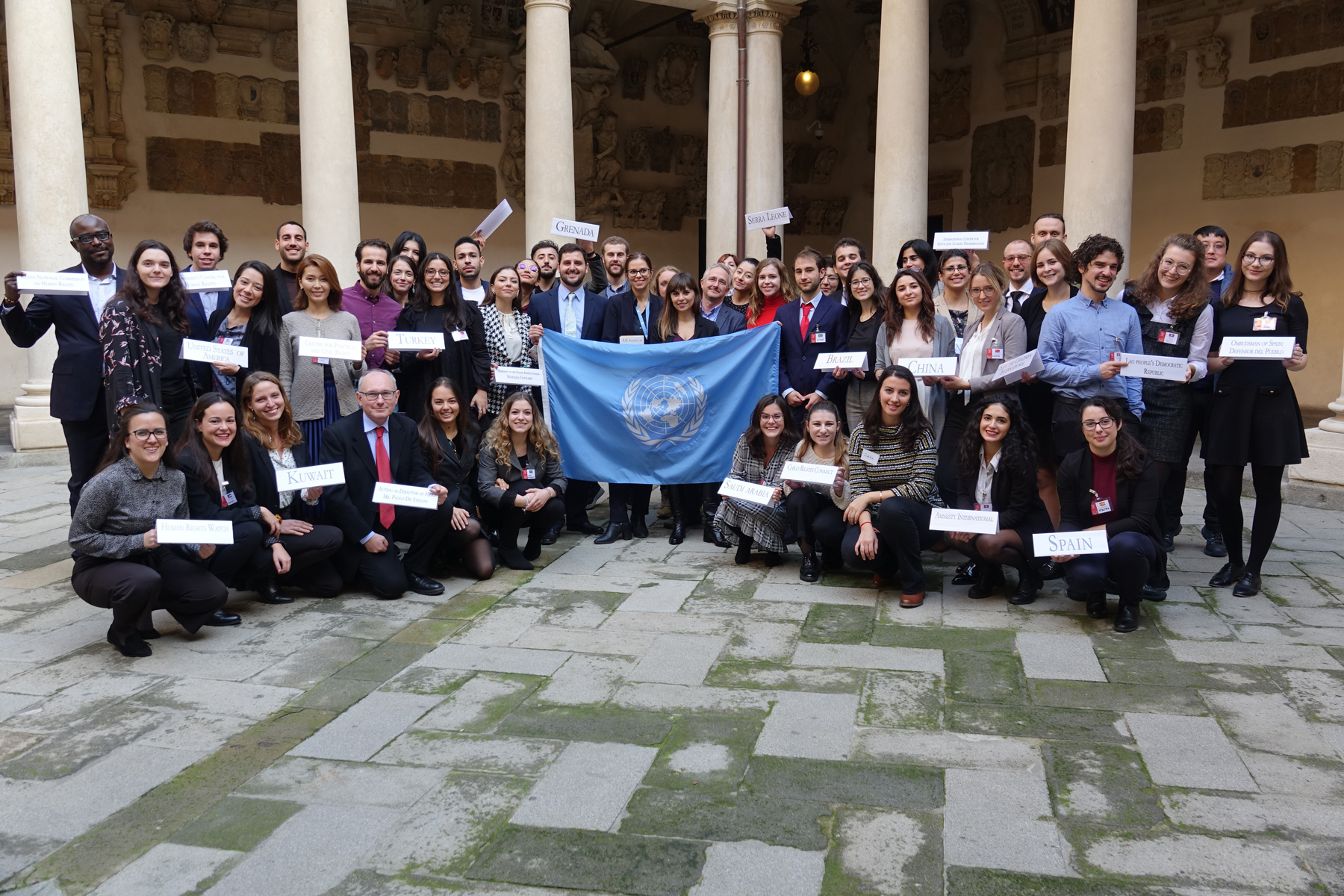 Photo of the final phase of the Padova Model UPR 2019 which took place on 27-29 November