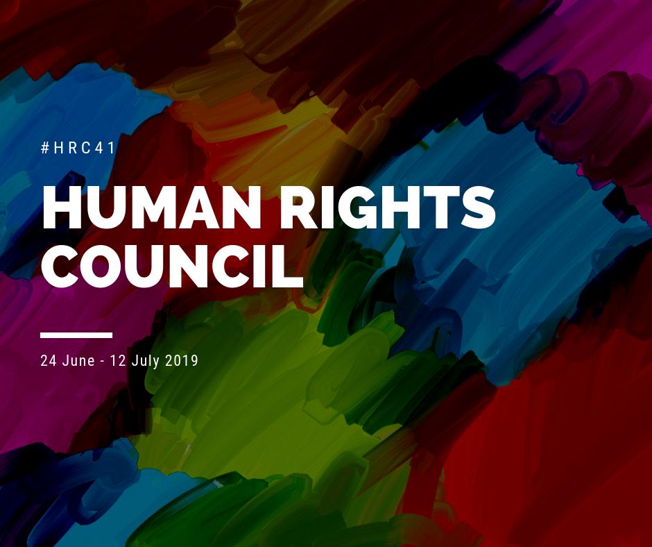 41^ sessione del Consiglio diritti umani delle Nazioni Unite