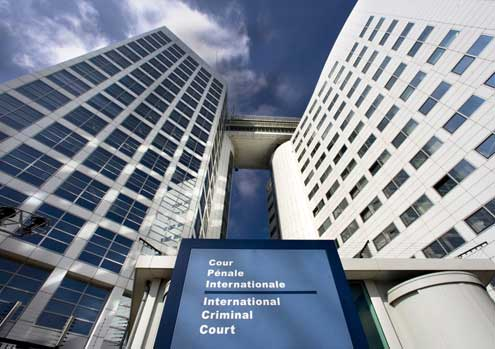 The International Criminal Court in The Hague (ICC/CPI), Netherlands.