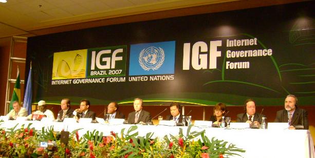 Foto scattata all'IGF tenutosi a Rio de Janeiro nel 2007.