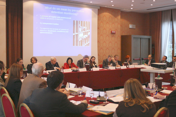 """Participants to the first meeting of the """"European National Preventive Mechanisms (NPM) Project"""", held in Padua on 27-28 January 2010."""