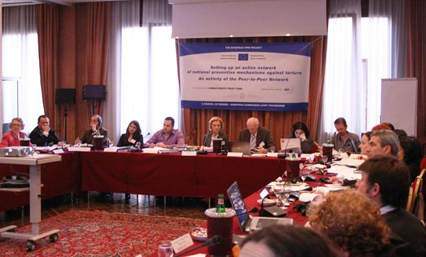 """Tavolo dei partecipanti, Primo workshop tematico """"Il ruolo degli NPM nella prevenzione dei maltrattamenti nelle istituzioni psichiatriche"""", Padova 24-25 Marzo 2010"""