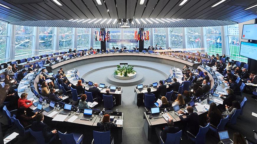 Il Comitato dei Ministri del Consiglio d'Europa durante una riunione