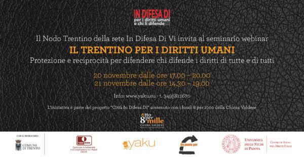 """Webinar """"Il Trentino per i diritti umani"""""""